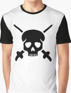 Fencing skull Graphic T-Shirt
