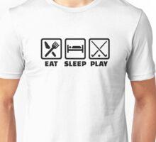 Eat sleep play field hockey Unisex T-Shirt