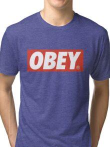 Obey Logo Tri-blend T-Shirt