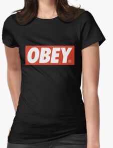 Obey Logo Womens Fitted T-Shirt