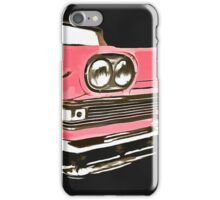Pink Ford Edsel Painting iPhone Case/Skin