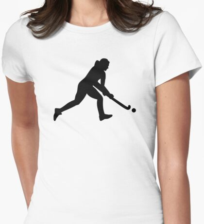 Field hockey girl Womens Fitted T-Shirt