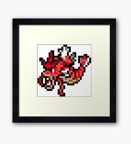 Pokemon 8-Bit Pixel Red Gyarados 130 Framed Print