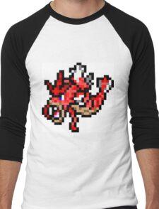 Pokemon 8-Bit Pixel Red Gyarados 130 Men's Baseball ¾ T-Shirt