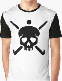 Field hockey skull Graphic T-Shirt