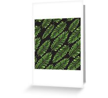 Watercolor Seamless pattern with banana leaves. Greeting Card