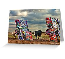 Cadillac Cows Greeting Card