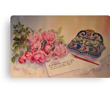 Roses of Picardy Canvas Print