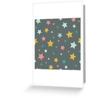 Multicoloured Stars Greeting Card