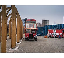 Bus Cafe Photographic Print