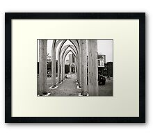Pathway Arches Framed Print