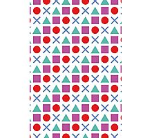 Gamer Pattern Solid White Photographic Print