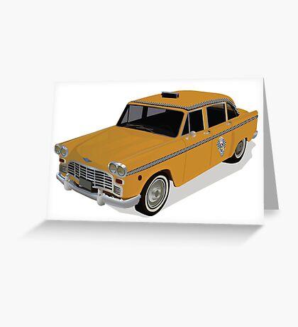 Taxi Greeting Card