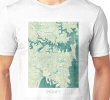 Sydney Map Blue Vintage Unisex T-Shirt