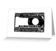 Old Cassette Greeting Card
