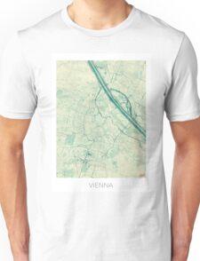 Vienna Map Blue Vintage Unisex T-Shirt