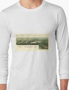Oconomowoc & Waukesha Wisconsin (1890) Long Sleeve T-Shirt