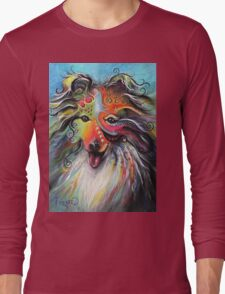 Boho Sheltie Long Sleeve T-Shirt