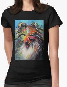 Boho Sheltie Womens Fitted T-Shirt