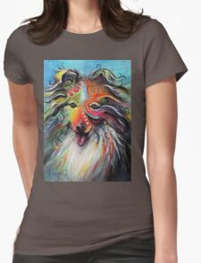 Boho Sheltie Womens Fitted T-Shirt
