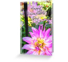 Valentine's Day Dahlia Greeting Card