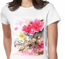 Roses card Womens Fitted T-Shirt
