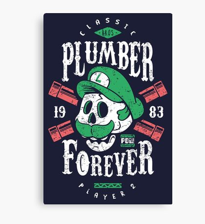 Plumber Forever Player 2 Canvas Print