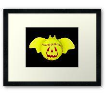 Novelty Halloween Softball Bat Mashup Framed Print