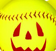 Novelty Halloween Softball Bat Mashup Sticker