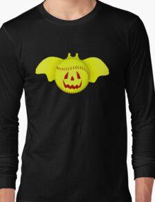 Novelty Halloween Softball Bat Mashup Long Sleeve T-Shirt