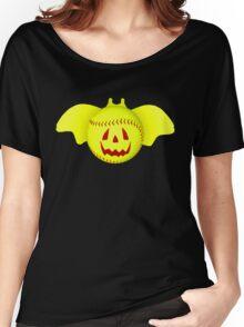 Novelty Halloween Softball Bat Mashup Women's Relaxed Fit T-Shirt