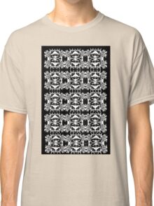 Black and White Abstract Pattern Classic T-Shirt