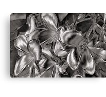 The Metallic Plumeria Collection 4 Canvas Print