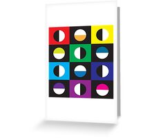 Crescent In Colors Greeting Card