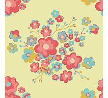 Painterly Flowers Photographic Print