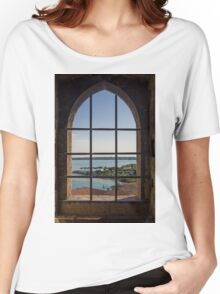 Superior view on Sirmione and Lake Garda in Italy Women's Relaxed Fit T-Shirt