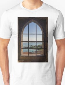Superior view on Sirmione and Lake Garda in Italy Unisex T-Shirt