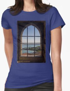 Superior view on Sirmione and Lake Garda in Italy Womens Fitted T-Shirt