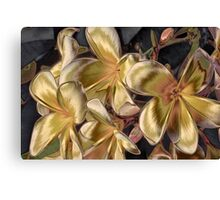 The Metallic Plumeria Collection 2 Canvas Print