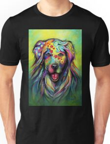 Boho Golden Retriever Unisex T-Shirt
