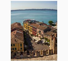 View on beautiful Lake Garda and Sirmione Old city in Italy T-Shirt
