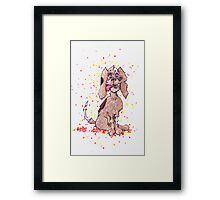 Zombie Puppy Wants Brains Framed Print