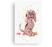 Zombie Puppy Wants Brains Canvas Print