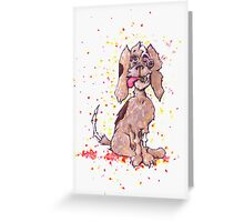 Zombie Puppy Wants Brains Greeting Card