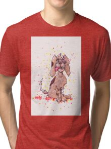 Zombie Puppy Wants Brains Tri-blend T-Shirt