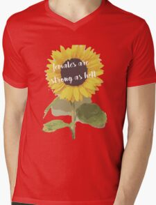 Sunflower Females Are Strong As Hell Mens V-Neck T-Shirt