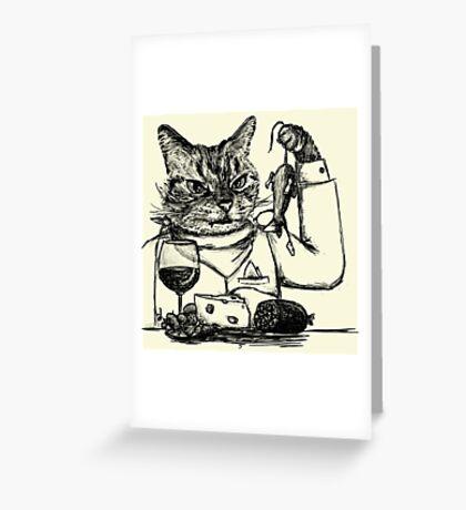 Cheese Thief Greeting Card