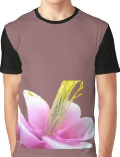 Tilted Pink Flower (isolated) Graphic T-Shirt