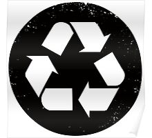 Recycle (black) Poster