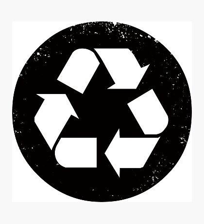 Recycle (black) Photographic Print
